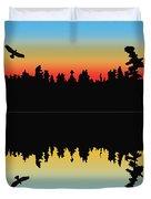 Rabbit Blanket Lake Duvet Cover