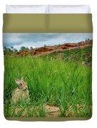Rabbit In The Grass Duvet Cover