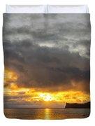 Rabbit Island Sunrise - Oahu Hawaii Duvet Cover by Brian Harig