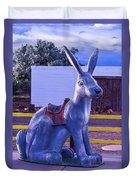 Rabbit Ride Route 66 Duvet Cover
