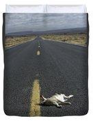 Rabbit Road Kill Duvet Cover