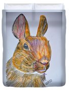 Rabbit Watercolor 15-01 Duvet Cover