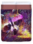 Raccoon Animal Cute Mammal  Duvet Cover