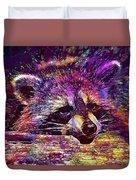 Raccoon Wild Animal Furry Mammal  Duvet Cover