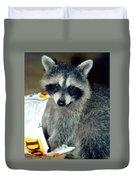 Raccoon1 Snack Bandit Duvet Cover
