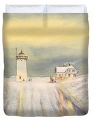 Race Point Lighthouse Provincetown Duvet Cover