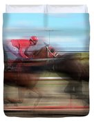 Racetrack Dreams  Duvet Cover