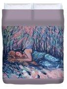 Rachel In The Sun-splattered Forest Duvet Cover