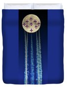 Racing For The Moon Duvet Cover