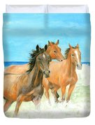 Racing The Surf Duvet Cover