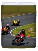 Racing Through Turn 11 Duvet Cover