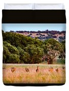 Nine Racing Whitetail Deer Duvet Cover