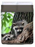 Racoons In Tree Duvet Cover