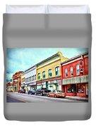 Radford Virginia - Along Main Street Duvet Cover