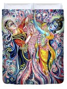Radha Krishna - Cosmic Dance Duvet Cover