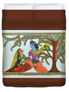 Radha Krishna  Duvet Cover by Shruti Prasad