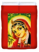 Radha - The Indian Love Goddess Duvet Cover