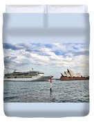 Radiance Of The Seas Passing Opera House Duvet Cover
