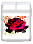 Radiant Red Rose Duvet Cover
