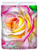 Radiant Rose Of Peace Duvet Cover