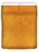 Radiation With Gold  Red And Brown  Duvet Cover