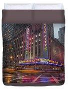 Radio City New York  Duvet Cover
