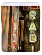 Radio Nashville Sign Duvet Cover