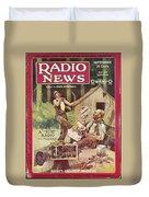 Radio News, 1926 Duvet Cover