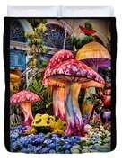 Radioactive Mushrooms Duvet Cover
