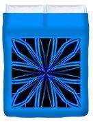 Radioactive Snowflake Blue Duvet Cover