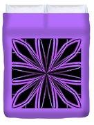 Radioactive Snowflake Purple Duvet Cover