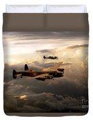Raf Lancaster And Spitfire Duvet Cover