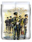 Raf Military Parade In York Duvet Cover