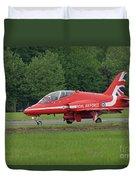 Raf Red Arrows Jet Lands Duvet Cover