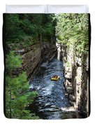 Rafting In A Gorge Duvet Cover