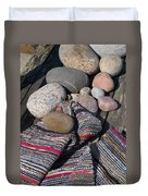 Rag Rugs With Stones And The Dock 3 Duvet Cover