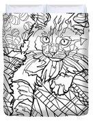 Ragdoll Kitten - Coloring Image Duvet Cover