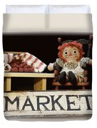 Raggedy Ann Selling Raspberries Duvet Cover