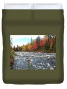 Raging Michigamme River Duvet Cover