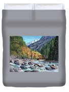 Rail Bridge At Cascade Duvet Cover