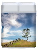 Rail Fence And A Tree Duvet Cover