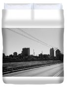 Railroad And The City Duvet Cover