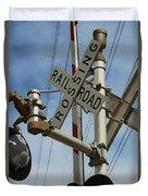 Railroad Crossing  Duvet Cover