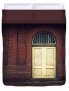 Railroad Museum Door Duvet Cover