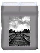 Railroad Tracks - Charcoal Duvet Cover
