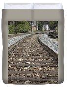 Railroad Tracks Duvet Cover by Danielle Allard