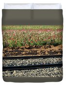 Rails And Roses Duvet Cover