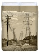 Rails And Wires Duvet Cover
