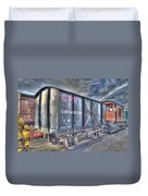Railway Gunpowder Wagon Duvet Cover by Chris Thaxter