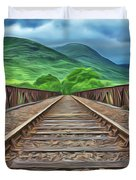 Railway Duvet Cover by Harry Warrick